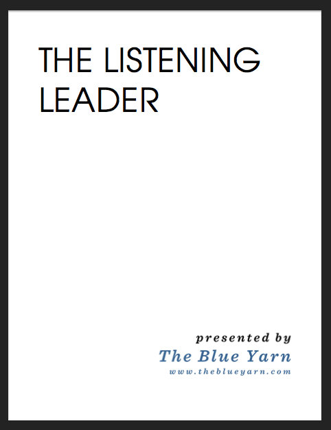 The Listening Leader Cover